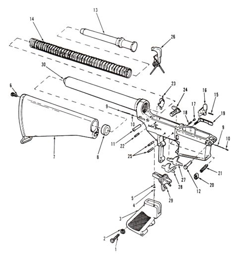 Ar 15 Assembly Diagram by Parts Diagrams Lower Receiver And Buttstock Assembly