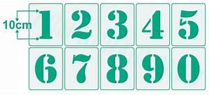 Buchstaben Schablone Metall : schablone zahlen 10cm hoch 1 schablone mit zahl 100mm hbm schablonenshop ~ Frokenaadalensverden.com Haus und Dekorationen