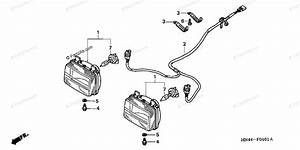 Honda Atv 2001 Oem Parts Diagram For Headlight 2