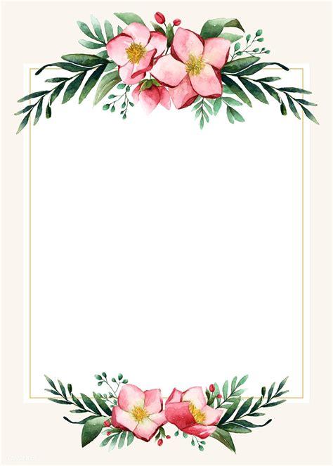 premium vector  flowers invitation card