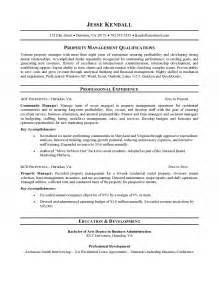residential property manager resume property manager resume
