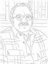 Writer Coloring Poet sketch template