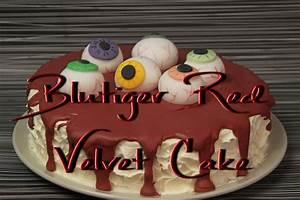 Halloween Rezepte Kuchen : blutiger red velvet cake motivtorte mit aug pfeln zum ~ Lizthompson.info Haus und Dekorationen