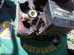 The Pull Starter Rope For My Weedeater Lawn Mower  Model We4qn22sd  Came Out Of Its Guide And I