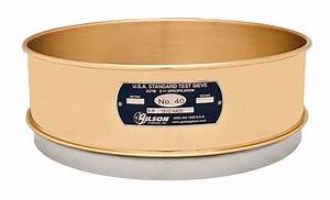 12 U0026quot  Sieve  Brass  Stainless  Full Height  No 40