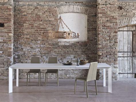 bontempi casa rectangular and steel table genio by bontempi casa