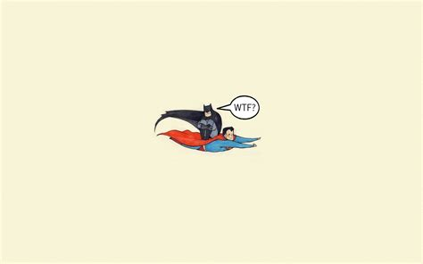 Superman Batman Funny Wallpaper Minimalist Walls