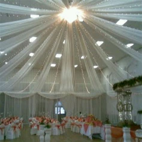 How To Hang Ceiling Drapes For A Wedding - possible ceiling for prom prom