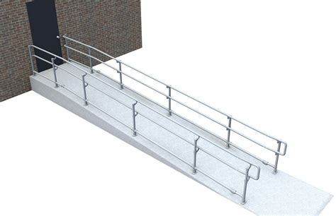 wheelchair r railing ada handrail easy to install economical fully compliant 1002