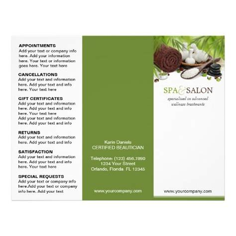 4 Fold Brochure Template 7 Best Sles Templates 89 Best Images About Spa And Salon Flyers Brochures