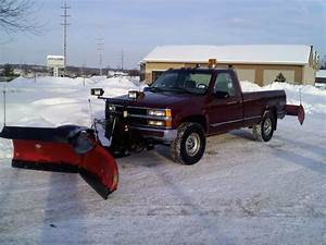1998 Chevy 2500 With Boss 9 2 V Plow And Rear Backblade