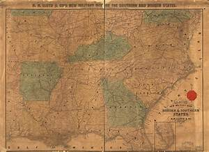 Lloyd 39 S New Military Map Of The Border Southern States