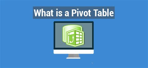What Is A Pivot Table In Excel  Make A Pivot Table Manually