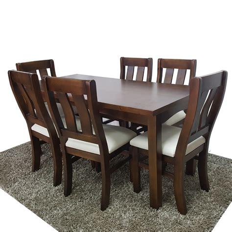mesa  sillas en madera  comedor  cocina gh