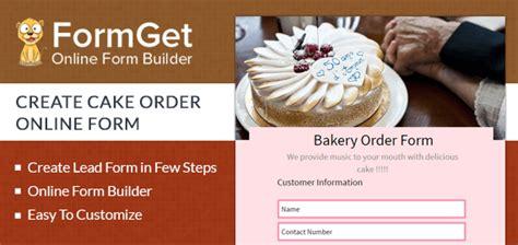 bakery order form  cake stores bakery shops formget