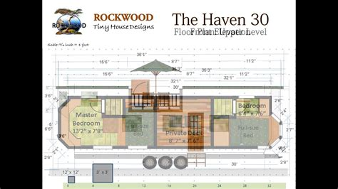 haven  tiny house floor plan  elevations youtube