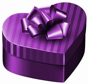 Purple Luxury Gift Box Heart PNG Clipart Image | Gallery ...