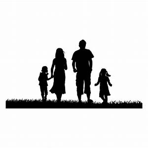 Decorative vinyl family silhouette