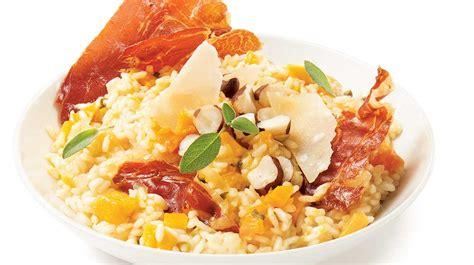 sauge cuisine recettes risotto à la courge et aux croustilles de prosciutto