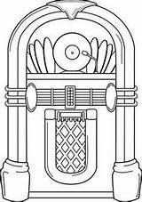 Jukebox Template Coloring sketch template