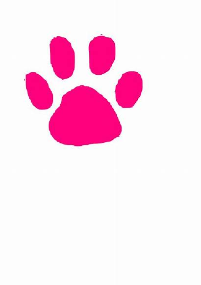 Paw Pink Clip Cat Panther Prints Paws