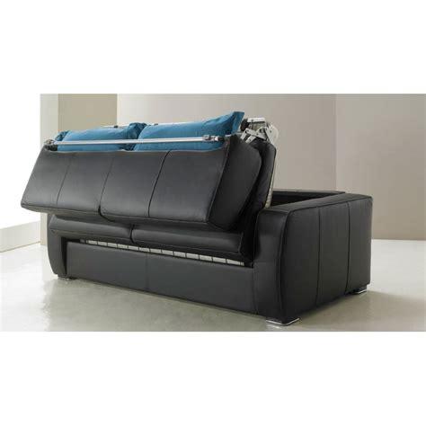 canapé lit convertible cuir canapé lit rapido en cuir de vachette pas cher