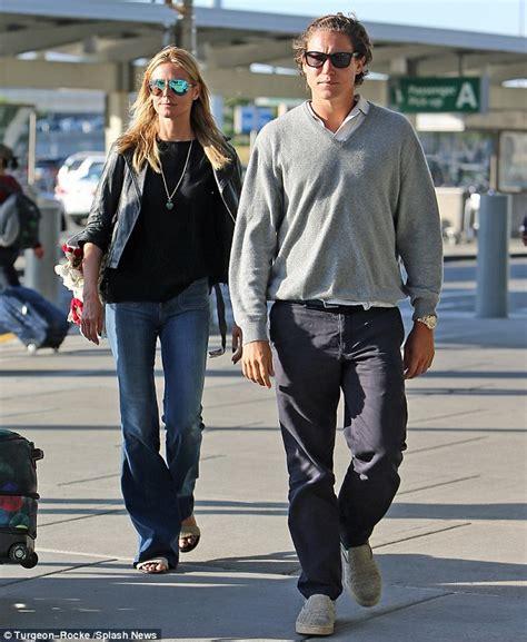 Heidi Klum Vito Schnabel Arrive Back From Romantic