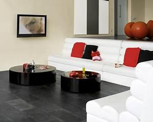 peinture salon blanc casse deco moderne en rouge et noir With photo peinture salon 2 couleurs 0 peinture salon 25 couleurs tendance pour repeindre le