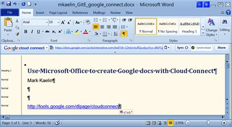 Use Microsoft Office to create Google docs with Cloud ...