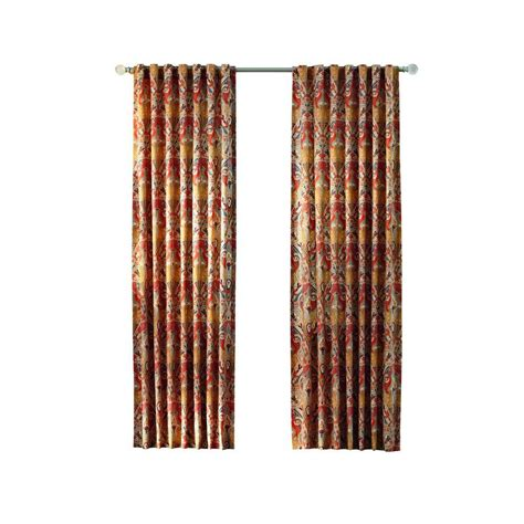 home decorators collection multi paisley back tab curtain