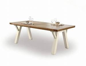 Tréteaux Pour Table : table de sejour romance treteaux meubles fouillard ~ Melissatoandfro.com Idées de Décoration