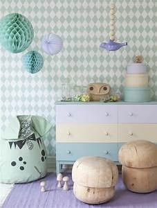 Tapeten Muster Wände : kinderzimmer tapeten farbige ideen f r ihr interieur ~ Markanthonyermac.com Haus und Dekorationen