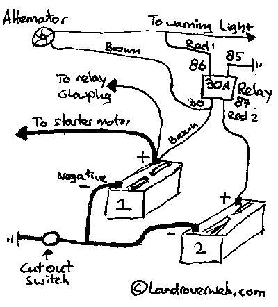 Split Charge Electrical Wiring Diagram Diy Defender