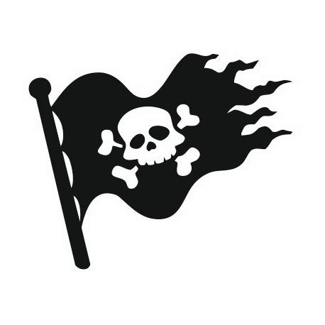 sticker drapeau univers pirate deco chambre enfant