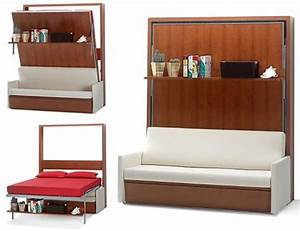15 cool murphy beds for decorating smaller rooms for Hidden sofa bed