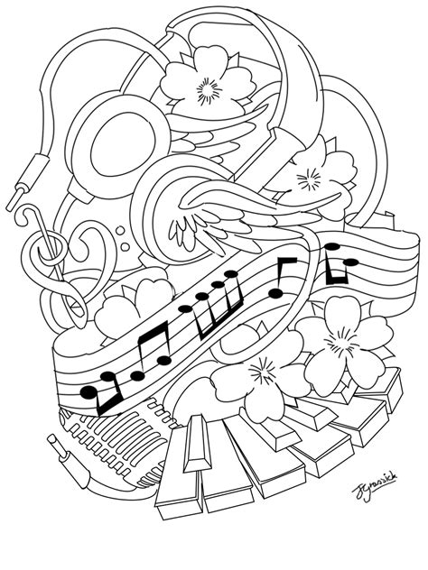 Outline Tattoos Gallery (With images) | Music coloring