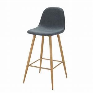 Chaise De Bar Maison Du Monde : chaise de bar en tissu bleu jean clyde maisons du monde ~ Teatrodelosmanantiales.com Idées de Décoration
