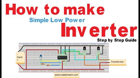 how to make simple inverter 100 working circuit youtube