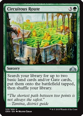 circuitous route guilds  ravnica pucatrade trade