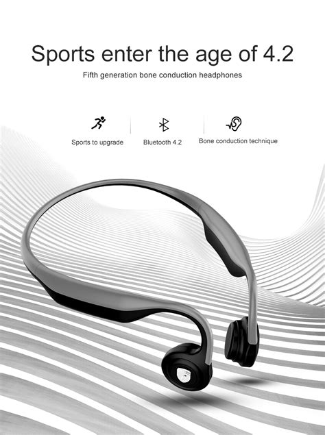 ES-368 Bone Conduction Headphones Wireless Bluetooth