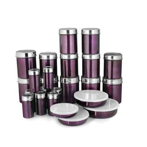 Kitchen Containers Naaptol by Buy Zain Jkss 8080 24pcs Stainless Steel Storage Set