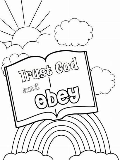Sunday Obey Coloring Trust Toddler Pages Activities