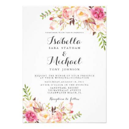 rustic floral wedding invitation zazzlecom floral