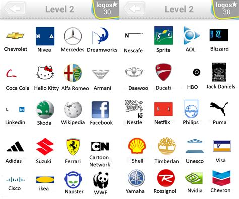 logo quiz level 2 answers by bubble quiz games answers doors geek