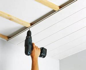 Fixation lambris pvc plafond - Isolation idées