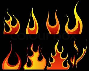 Set of different fire patterns for design use Stock