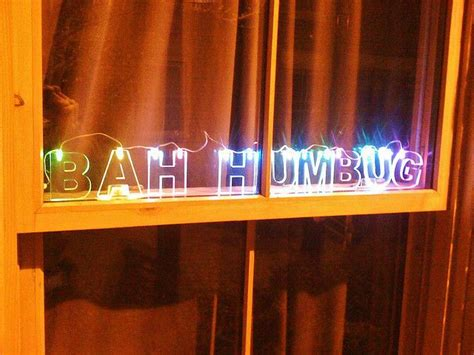 colour changing led christmas bah humbug light set