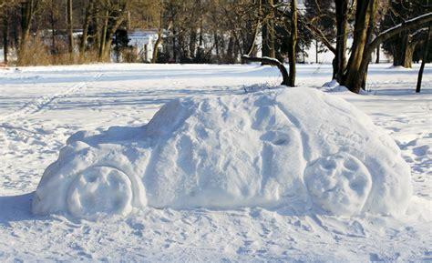 snow sculpture   yard  allstate blog