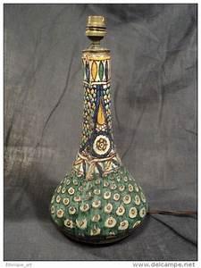 Pied De Lampe Ceramique : pied de lampe c ramique tunisienne fai nce de tunisie chemla nabeul vers 1930 40 tunisian ~ Teatrodelosmanantiales.com Idées de Décoration