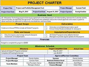 image result for project charter project management With software project charter template